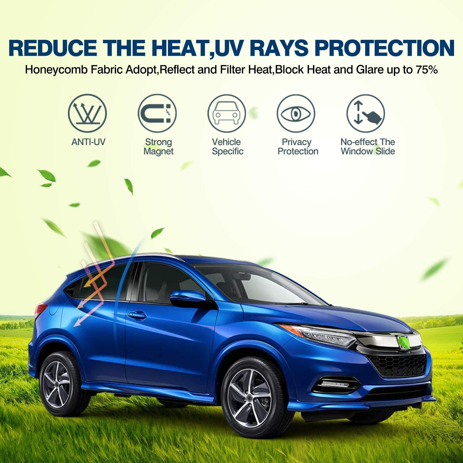 Mixsuper Newly Update Model 3 Sun Shades,Car Sunroof UV Rays Protection Window Shade for Tesla Model 3,Half Covered Rear Sunshade Type with Free UV and Heat Insulation Film