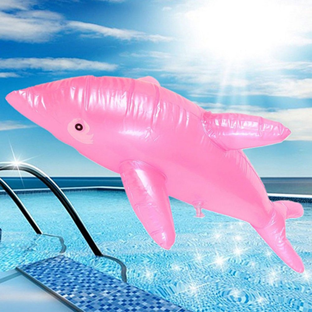 ink2055 Lovely 50cm Inflatable Dolphin Fish Beach Swimming Pool Party Children Toy Random Color