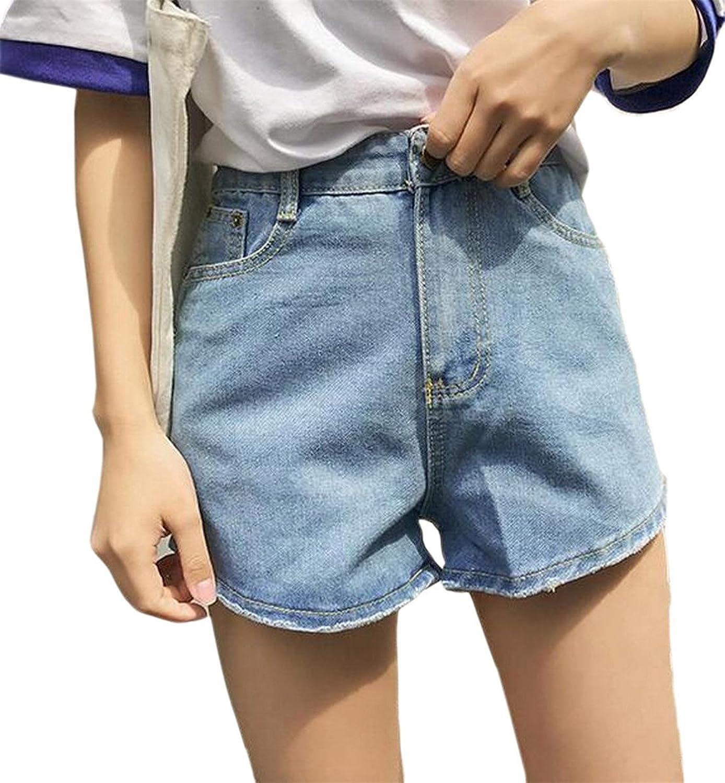 Smeiling Women's Multi Pocket Denim Loose Fit Vintage Shorts