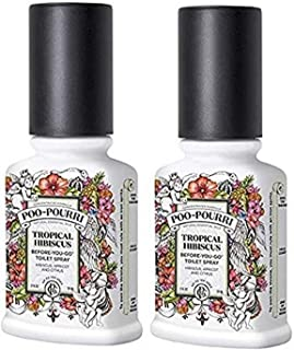 product image for Poo Pourri Tropical Hibiscus Before You Go Spray, 2 Ounce (2 Count)