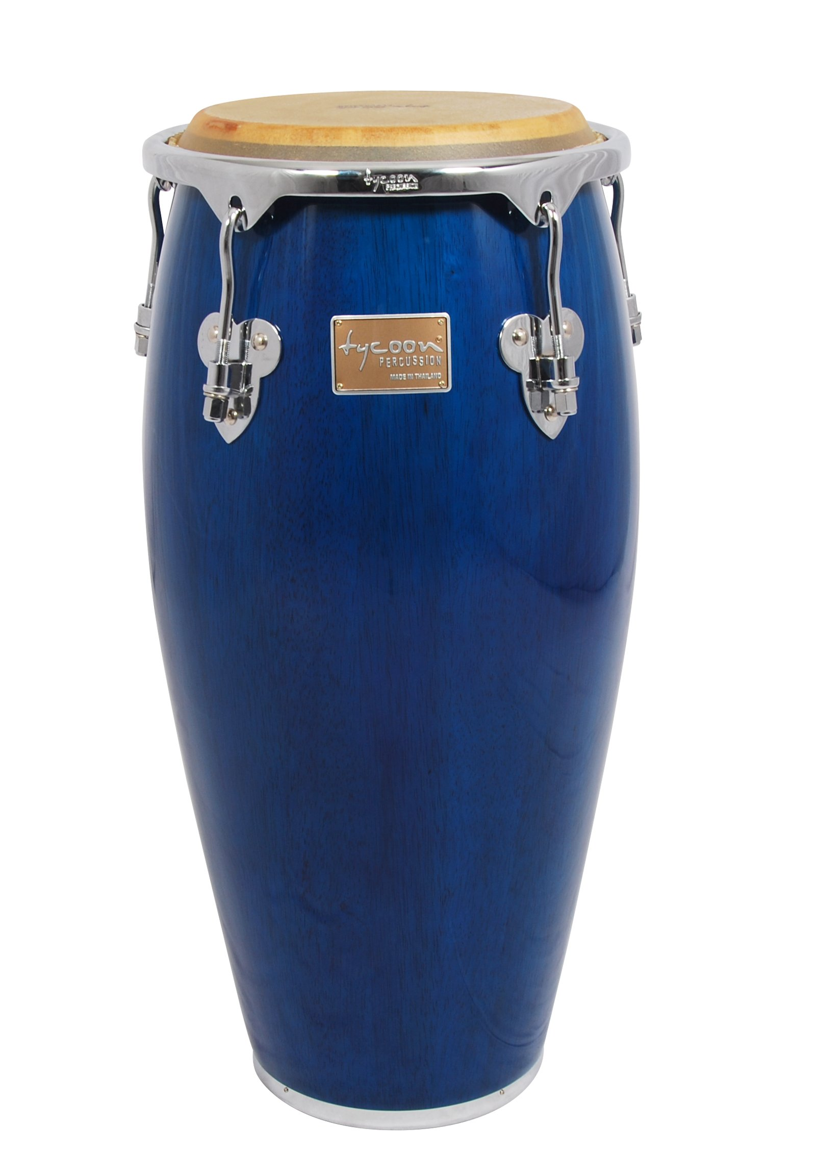 Tycoon Percussion 11 Inch Master Classic Series Blue Quinto With Single Stand