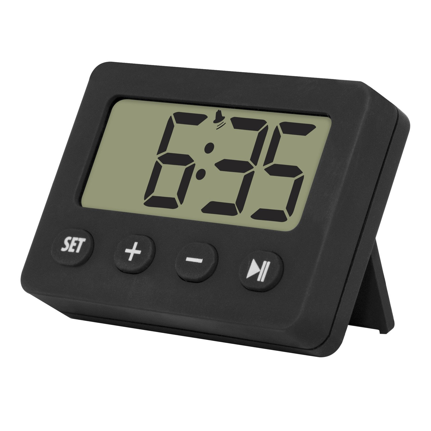 La Crosse Technology 60.2014.01 Digital Timer with Alarm and Stopwatch Black