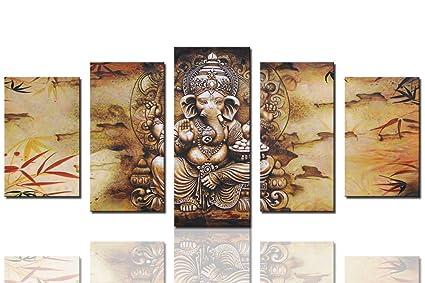Amazon.com: Sunrise Art Canvas Prints Framed Hindu Fairy Wall Art ...