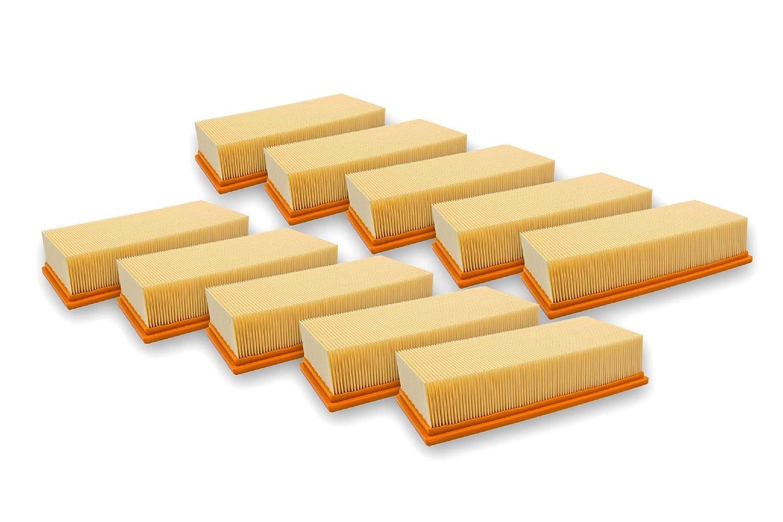 vhbw 10x Flachfaltenfilter Filter Wie 6.904-283.0 Kärcher Nass-/Trockensauger NT 65/2 AP, NT 65/2 Eco, NT 65/2 Eco Tc, NT 72/2 Eco Tc NT 75/2 AP Me Tc VHBW4251407759749