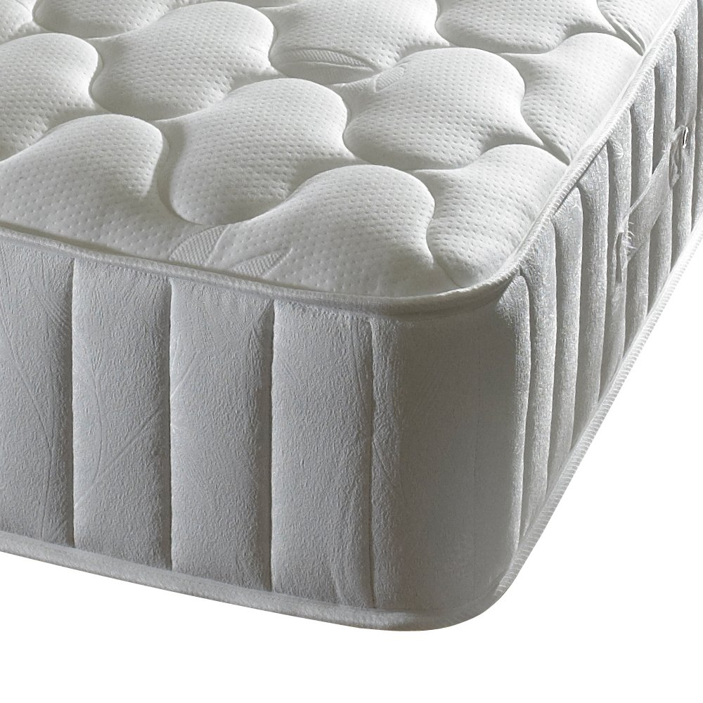 Happy Beds Forest Dream 3000Pocket Federkernmatratze aus Memory-Schaumstoff mit Bambus Garn Stoff, weiß, Textil, weiß, Zweifach (135 x 190 cm)