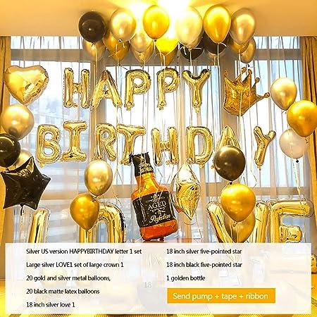 LYJKJGS Decoración De La Fiesta De Cumpleaños para Adultos ...