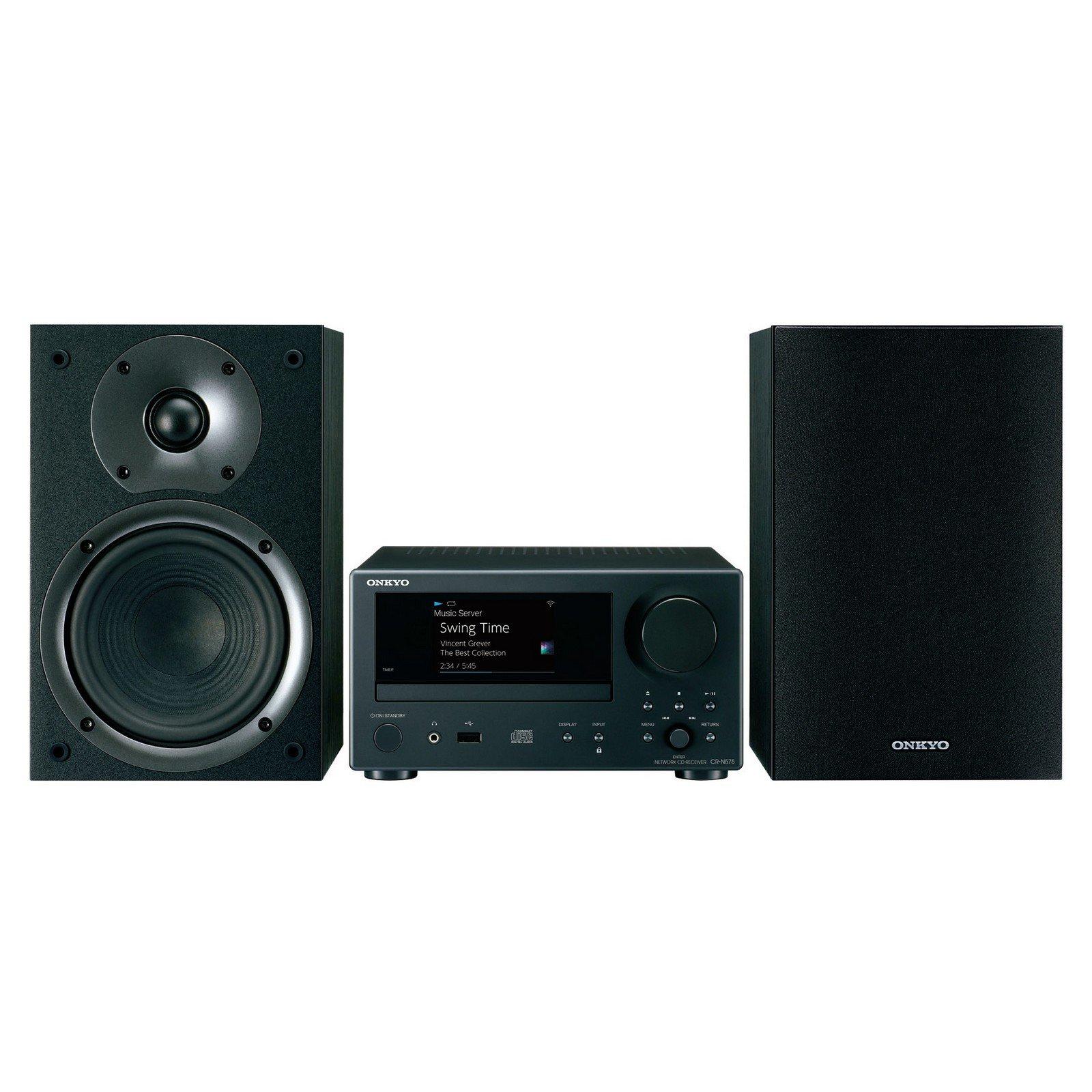 Onkyo Network Hi-Fi CD System Black (CS-N575) by Onkyo