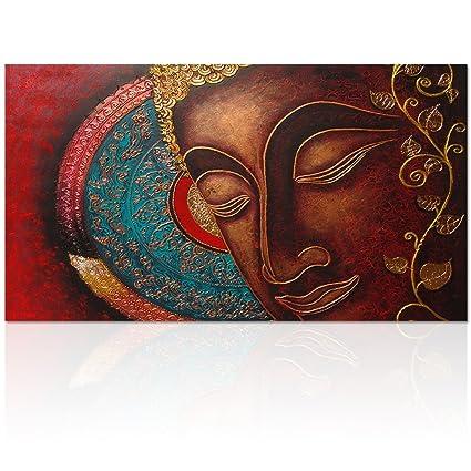 Visual Art Decor Buddha Canvas Wall Art Buddha Painting Canvas Prints Keep  Inner Peaceful Buddha Artwork