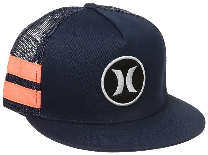 Amazon.com  Hurley Men s Block Party Hats Flex Fit Trucker fc4a2021d805