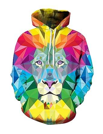 Site officiel boutique de sortie prix pas cher Bestgift Homme Femme Sweat à capuche Pull over Multicolore ...