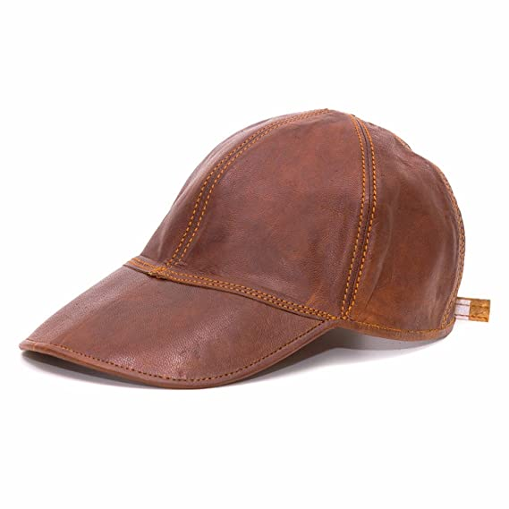 Goatter Boy s Leather Summer Cap Brown Free Size  Amazon.in  Clothing    Accessories 99b291a3e479