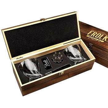 Frolk Premium Gift Set Of Whiskey Glasses
