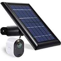 Wasserstein Solar Panel with 13.1ft/4m Cable Compatible with Arlo Ultra - Power Your Arlo Surveillance Camera continuously (Black) (Not Compatible with Arlo Pro/Pro2)