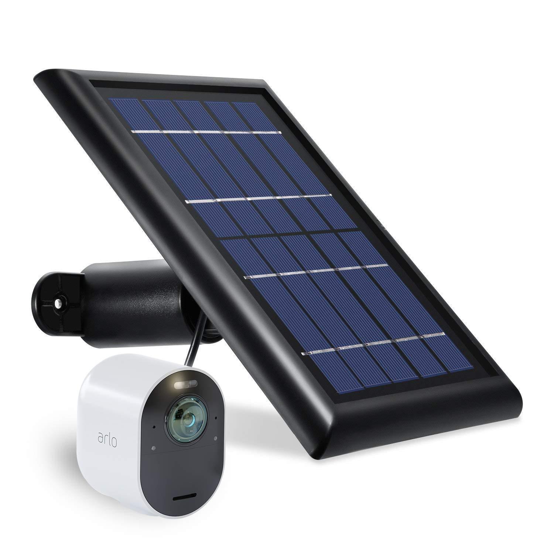 Solar Panel Compatible with Arlo Ultra - Power Your Arlo Surveillance Camera continuously (Black)