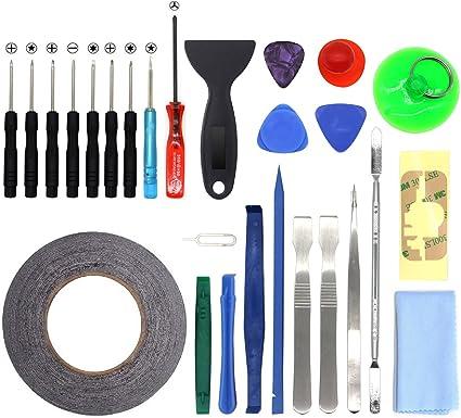 27 en 1 Kit de Herramientas movil de reparación Destornillador Plano Cruz para iPhone 6/6S/Plus/6S/5/5S/5C/4/iPad/iPodiPad Samsung HTC Sony LG y pequeños electrodomésticos: Amazon.es: Informática