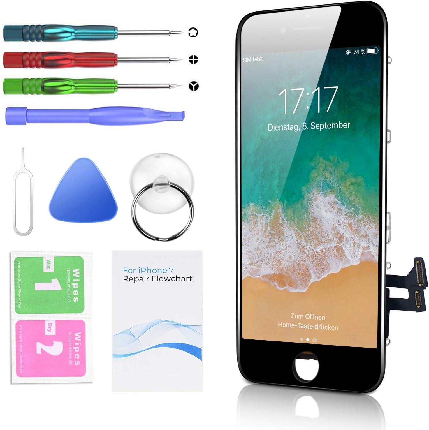 Htechy Replacement For Iphone 7 Display Black Elektronik