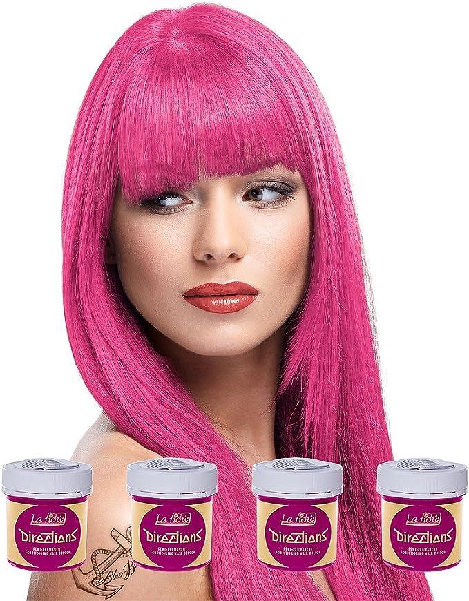 La Riche Directions Semi Permanent Carnation Pink Hair Colour Dye x 4