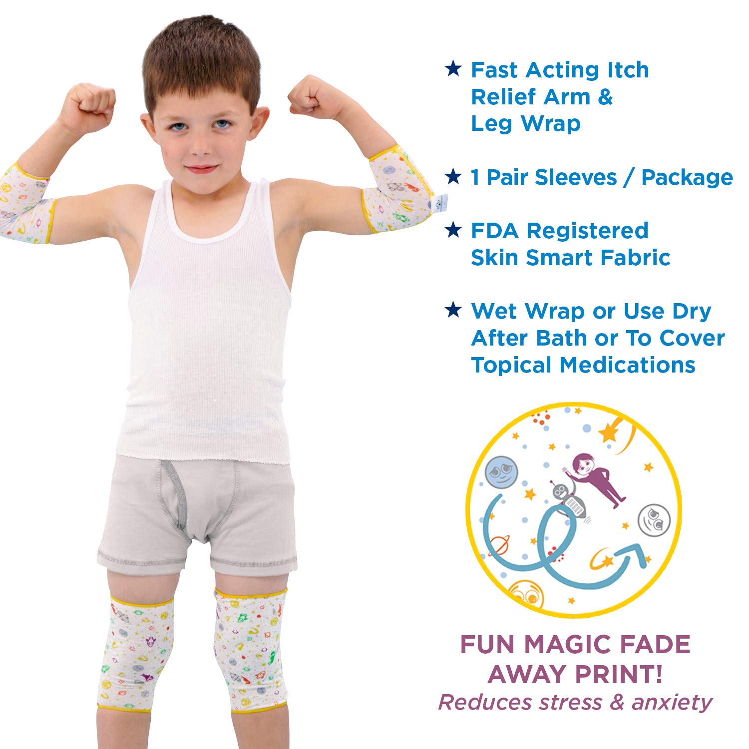 Eczema Relief Wrap Leg & Arm Sleeves for Moderate to Severe Eczema  Treatment – Also Used as Wet