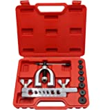 YOTOO Double Flaring Tool Kit Brake Line Flaring Tools for Copper, Aluminum, Soft Steel Brake Line and Brass Tubing Tool Kit