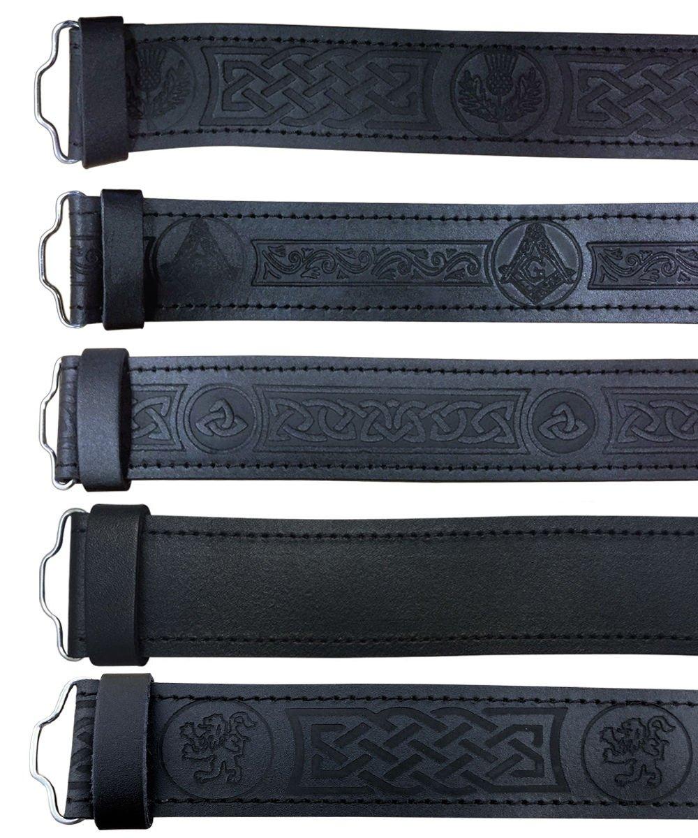 AAR Leather Kilt Belt Celtic Twist Desgin Scottish Highland Accessories Large by AAR (Image #2)