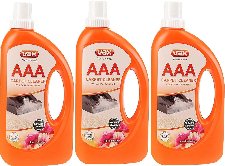 3x Vax AAA une meilleure solution de nettoyage moquette Formule Shampooing 750ml