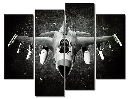Amazon.com: SUNFROWER® Canvas Prints Vintage Aircraft Art Wall Decor ...