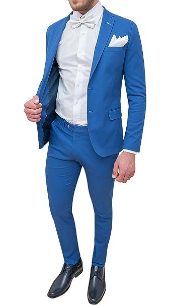 Abito completo uomo Trade Sartoriale azzurro elegante made in Italy con  papillon e pochette  Amazon.it  Abbigliamento 9c289939aa7