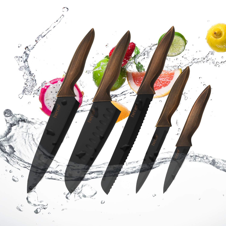 Amazon.com: Hecef - Juego de cuchillos de cocina, cuchillos ...