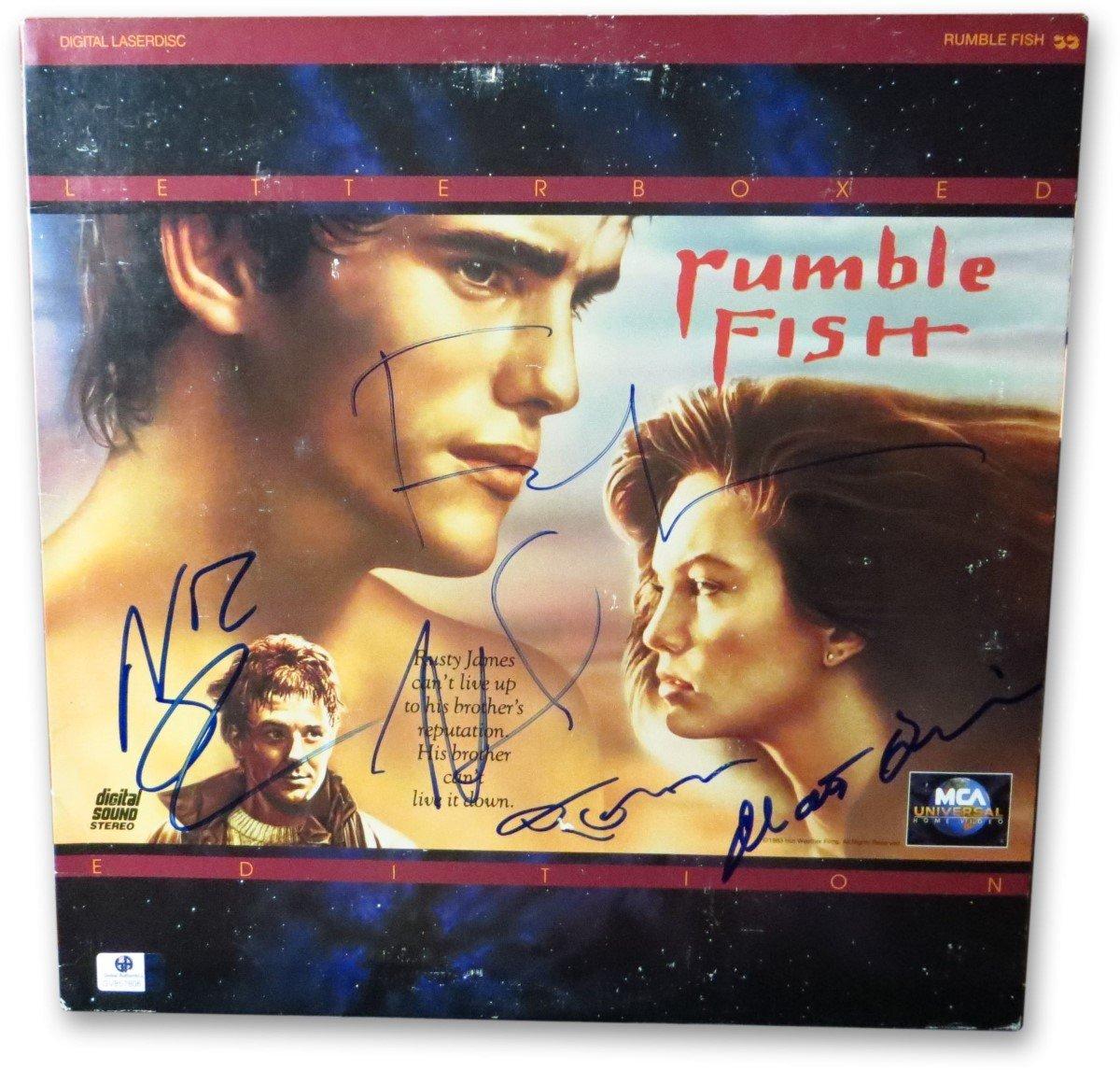 Dillon Hopper >> Amazon Com Rumble Fish Signed Laserdisc Cover Coppola