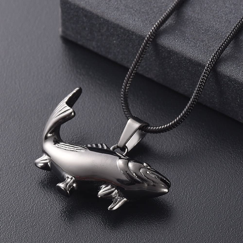 Cremation Jewelry for Ashes Fish Keepsake Urns Memorial Pendant Necklace Jewellery for Pets//Human