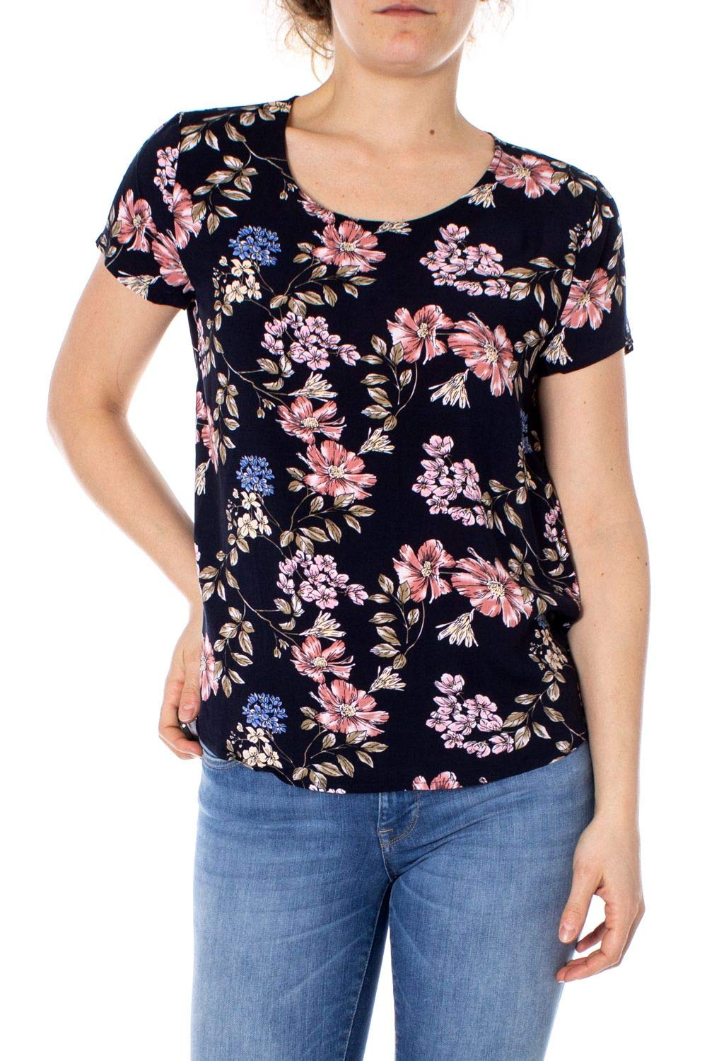 Only Women's 15138761blueE bluee Viscose TShirt