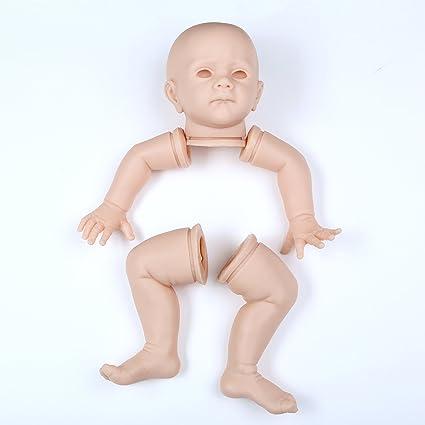 10/'/' Unpainted Reborn Baby Doll Handmade Silicone Mold Blank Newborn Boy Kit