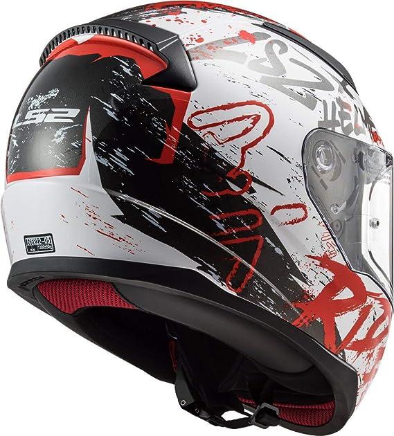 XXL LS2 Casque int/égral moto Rapid Naughty blanc rouge