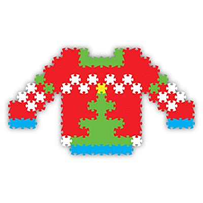 Fat Brain Toys Holly Jolly Jixelz - Ugly Christmas Sweater Arts & Crafts for Ages 6 to 11: Toys & Games