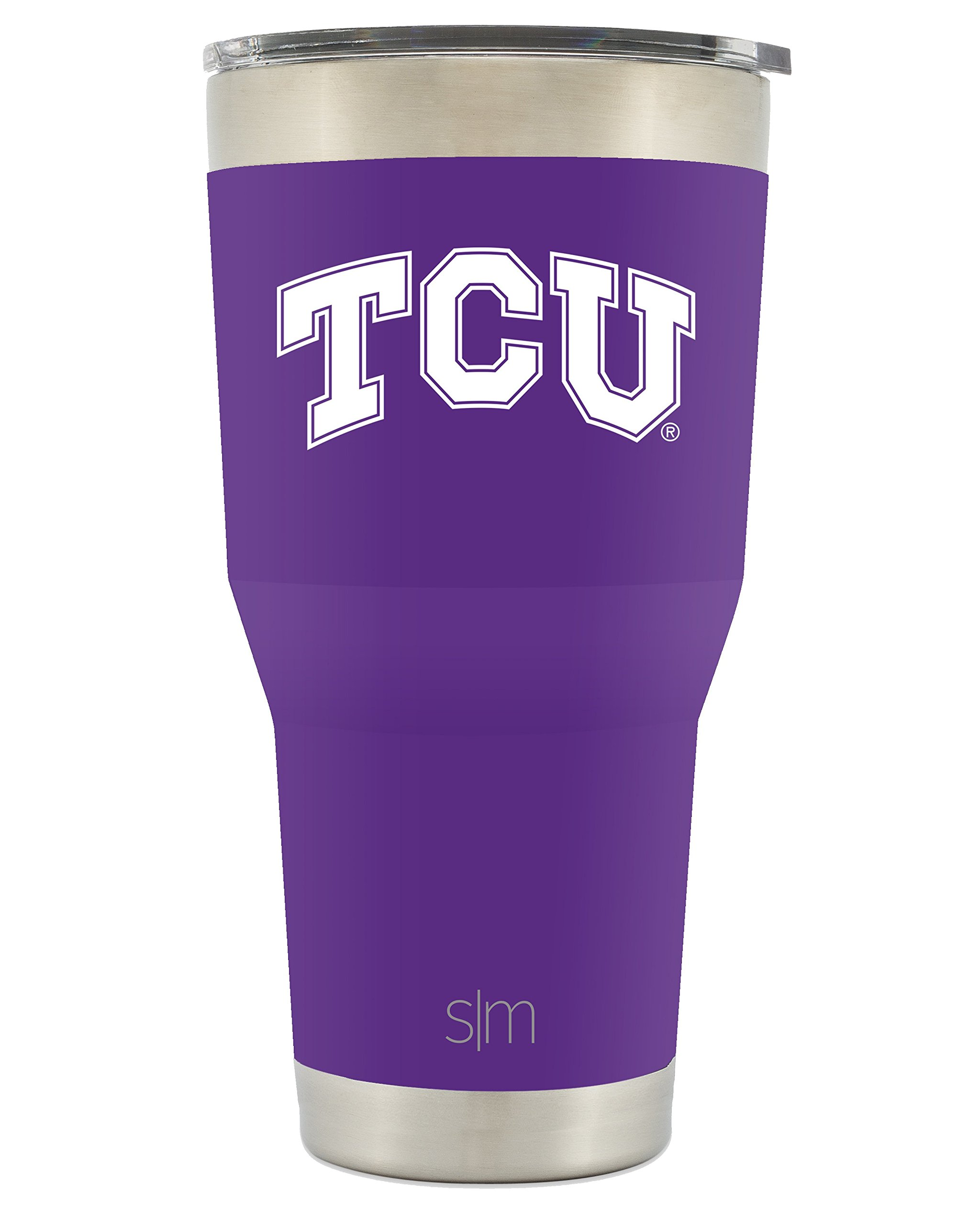 Simple Modern TCU 30oz Cruiser Tumbler - Vacuum Insulated Stainless Steel Travel Mug - Texas Christian University Horned Frogs Tailgating Hydro Cup College Flask