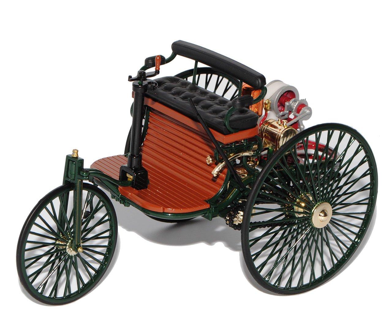 Norev Mercedes-Benz Patent Motorwagen 1886 Grün 1/18 Modell Auto mit individiuellem Wunschkennzeichen