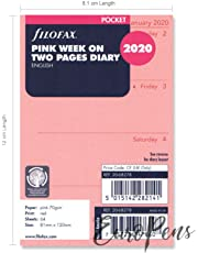 Filofax Pocket Week on Two Pages English Pink 2020 (20-68278)