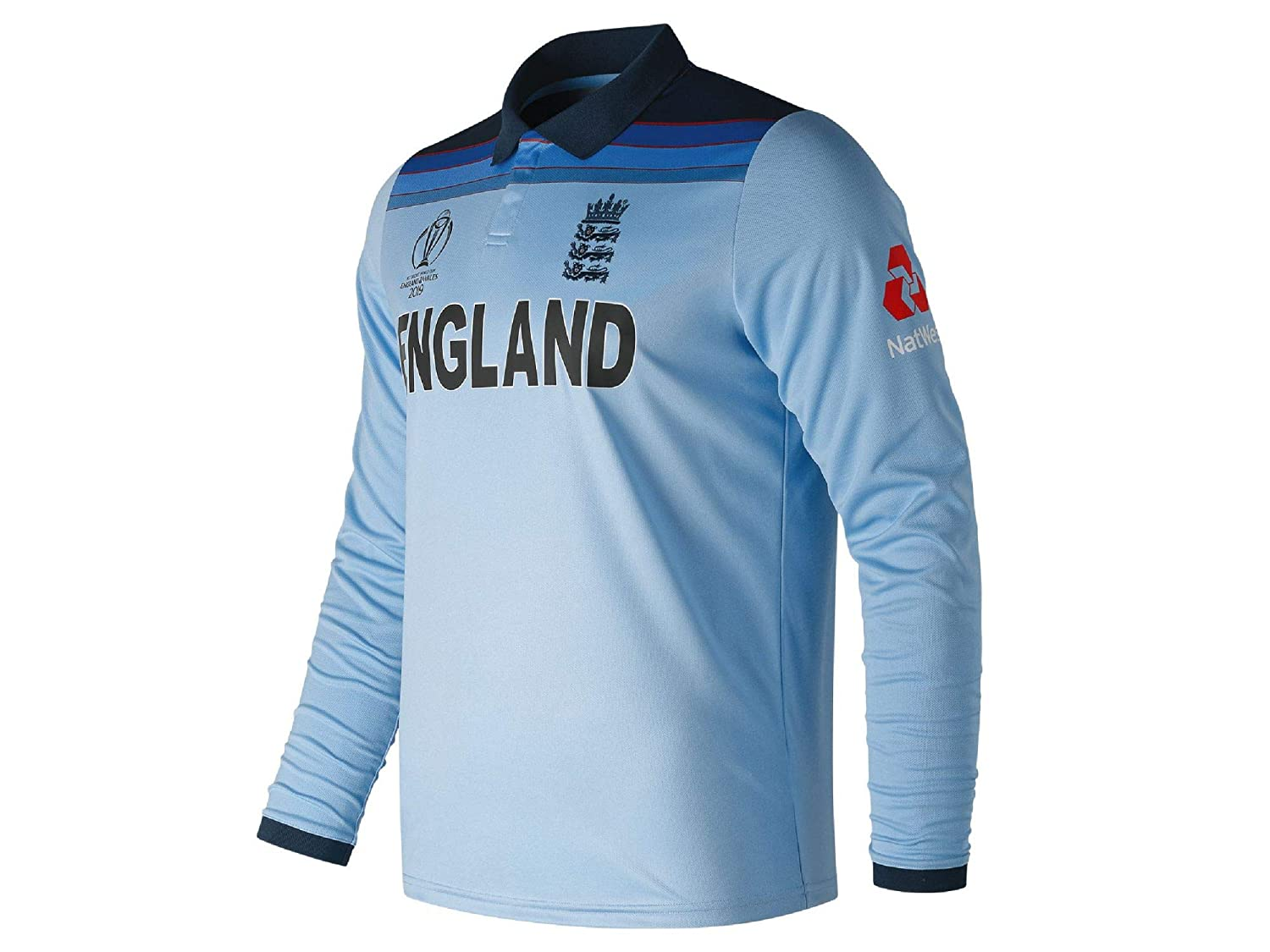 New Balance Ecb Replica Wc19 Odi Long Sleeve Polo Camiseta, Hombre ...