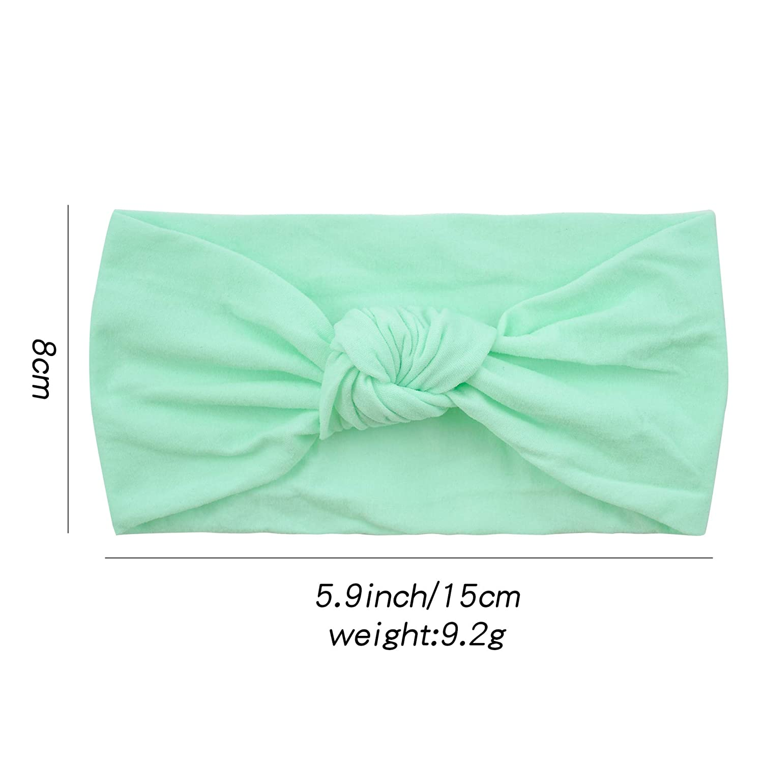 ZHW Baby Nylon Headbands Turban Knotted Girls Hairband Super Soft and Stretchy 10 Pack