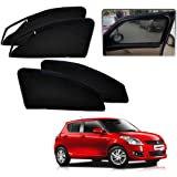Autopearl Zipper Magnetic Sun Shades Car Curtain for Maruti Swift New (Set of 4)
