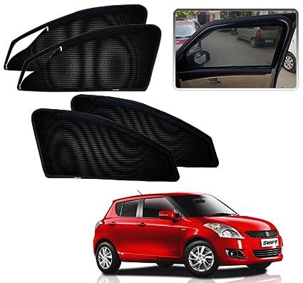 Auto Pearl Zipper Magnetic Sun Shades Car Curtain For Maruti Swift