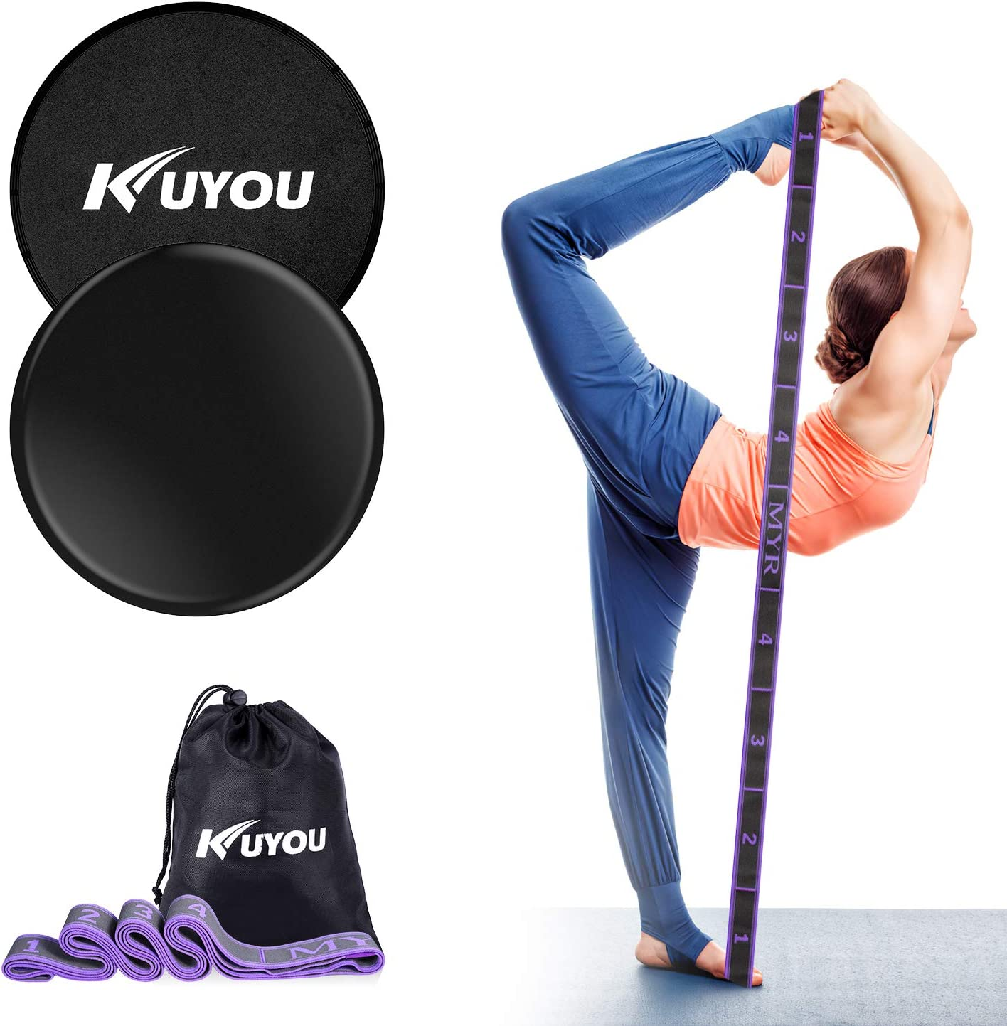 Exercise Yoga Workout Sliders Resistance Training Fitness Gliding Discs Set