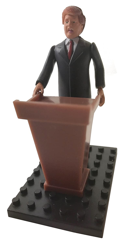 Donald Trump Building Block Minifigure Figure with Podium Poker Weights