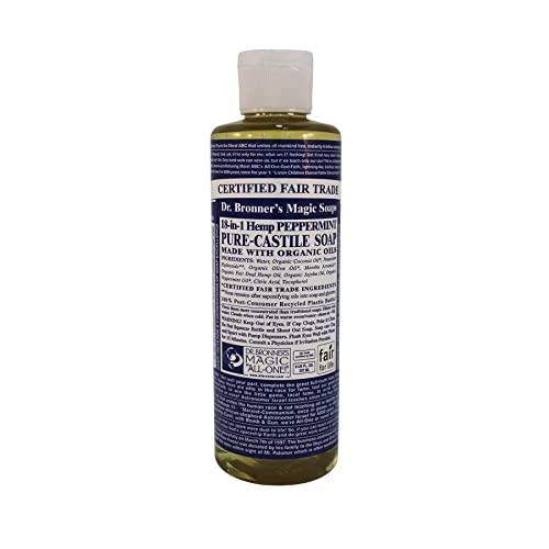 Dr Bronners Pure Castile Soap Peppermint (236ml 100% organic)