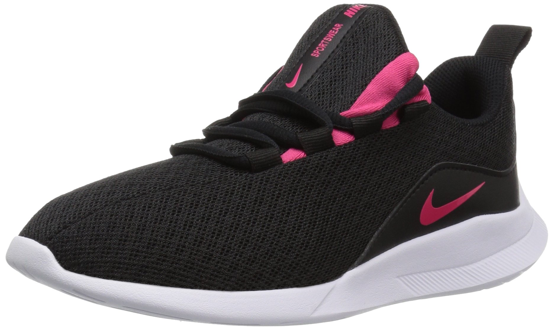 Nike Girls' Viale (GS) Running Shoe Black/Rush Pink-White 4.5Y Youth US Big Kid by Nike (Image #1)