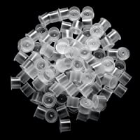ATOMUS 300Pcs Tattoo Ink Cups with Base Pigment Cups Medium Ink Container for Tattoo Kit Tattoo Supplies