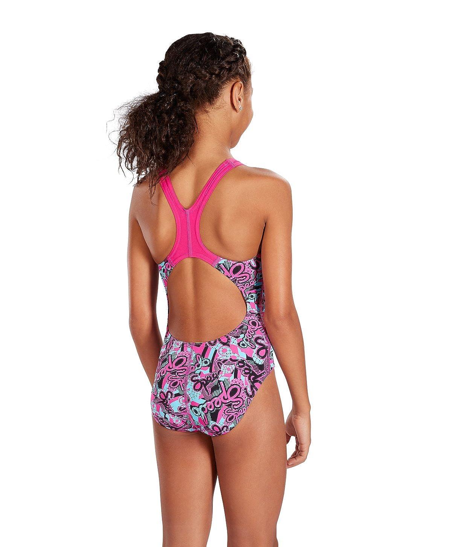 Speedo Astropop Allover Splashback Girls Swimsuit Swimming Costume