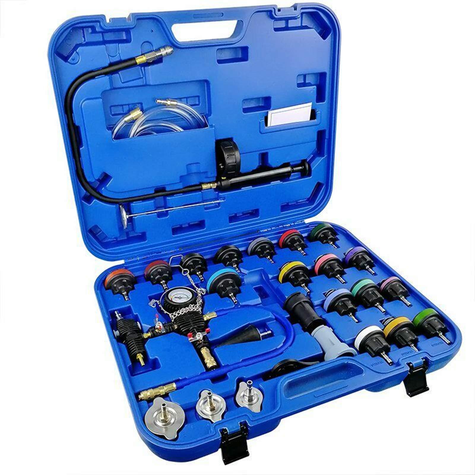 Mrcartool 28pcs Radiator Pressure Tester and Vacuum Type Cooling System Kit