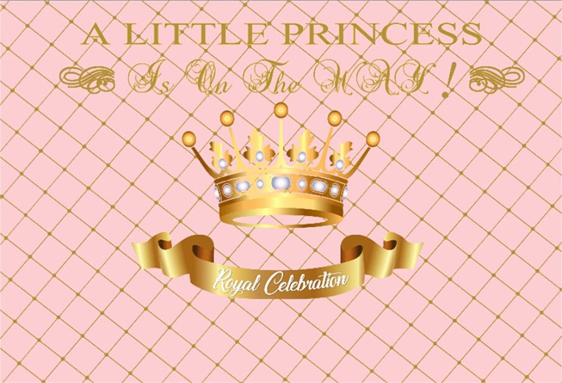 csfoto 6 x 4ft背景for Girlベビーシャワー誕生日Bashインテリア写真バックドロップSweet Little Princess Royal Celebrationsゴールドクラウン子キッド新生児幼児Photo Studio Props壁紙   B07FBJCJXF