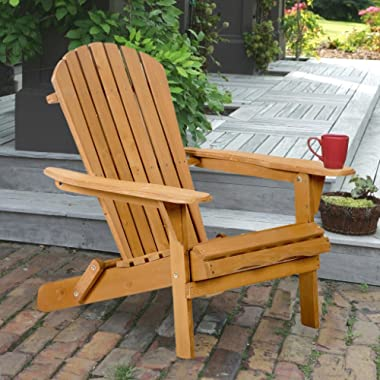 FDW Outdoor Wood Adirondack Chair Garden Furniture Lawn Patio Deck Seat 2000